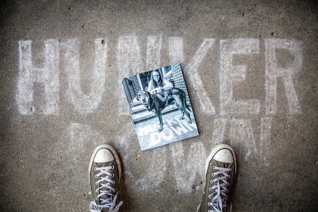 HUNKER DOWN BOOK PHOTOS--2